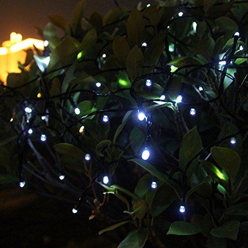 Innoo Tech Solar String Lights Outdoor 200 LED White fairy Christmas string lights 8 Moder for ...