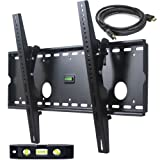 VideoSecu Tilt TV Wall Mount for Most 32″-65″ LCD LED Plasma TV Flat Screen, Sturdy Steel Wall Plate Free HDMI Cable and 6″ Bubble Level M43 Reviews Picture