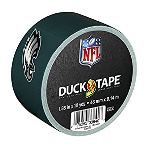 Duck Brand 240491 Philadelphia Eagles NFL Team Logo Duct Tape, 1.88-Inch by 10 Yards, Single Roll