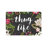 """Thug Life Flowers Doormat Entrance Mat Floor Mat Rug Indoor/Outdoor/Front Door/Bathroom Mats Rubber Non Slip (23.6""""x15.7"""",L x W) by Funny doormats"""