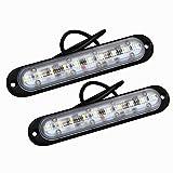 Amilliastyle 薄型 LED デイライトLED DRL カーライト 12V24V車兼用 防水仕様 左右セット 1年保証 (10W*2)