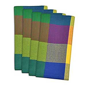 "DII 100% Cotton, Oversized Basic Everyday 20x 20"" Napkin, Set of 4, Palette Check"