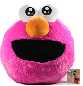 "Furyu Official Sesame Street Giant Cushion Plush - 3230 - 10"" Magenta Elmo"