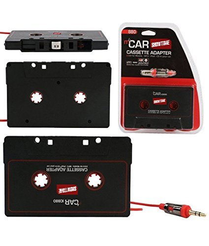 Showtime Car Audio Tape Cassette Adapter - For iPhone iPad iPod MP3 Player CD Radio nano, 3 Feet Long Cable 3.5mm Male and 2.5mm Male Adapter Headphone Jack AUX 880 (Radio Ipod Cord compare prices)