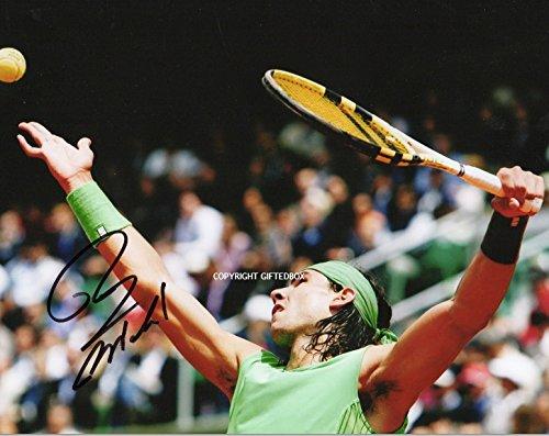 Édition limitée de tennis Rafael Nadal Signé photo + certificat Imprimé Autographe Signature Signé signiert autogram