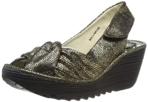 Fly London Womens Yakin Slingback P500124073 Black 3 UK, 36 EU
