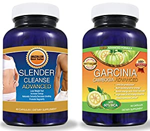 Pure Garcinia Cambogia Extract PLUS Detox Cleanse System- TV Doctor's Required HCA Formula Perfectly Matched to THE Premium Colon Cleanse for FAST RESULTS! - 2 BEST SELLING PRODUCTS FOR THE PRICE OF 1! (DIET KIT) - A to Z 100% Satisfaction Guarantee! - - Click The 'ADD TO CART' Button to the Right!