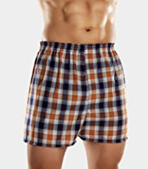 Fruit of the Loom Men's 5pk Fashion Plaid Boxers
