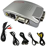 Proxima Direct® PC VGA to TV Composite Video RGB Converter / TV AV RCA S-Video Adapter Converter Box -- ** Comes with free 3.5mm Jack to 2x RCA Phono stereo audio cable **30 Days Full Refund Policy if not satisfied**