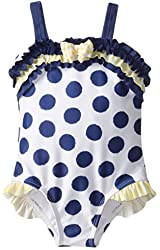 ABSORBA Baby Girls' Blue Dot Swimsuit