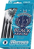 23g Knurled Harrows Black Arrow Darts Set
