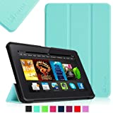 "Fintie Amazon All-New Kindle Fire HDX 7"" SmartShell Case Cover Ultra Slim Lightweight with Auto Sleep / Wake Feature - Blue"