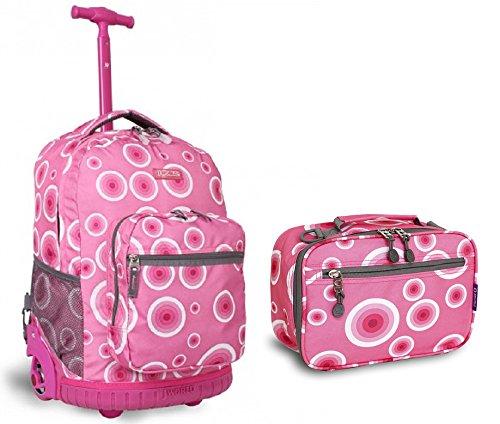 j-world-target-pink-sunrise-roller-backpack-back-pack-and-cody-lunch-bag-set