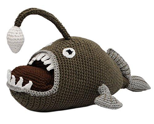 Vietsbay angler fish handmade amigurumi stuffed toy for Angler fish toy