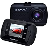 KINGMAK Mini FHD 1080P Car Dash Camera DVR Dashboard Cam G-Sensor Motion Detection Loop Recording With 16GB SD...