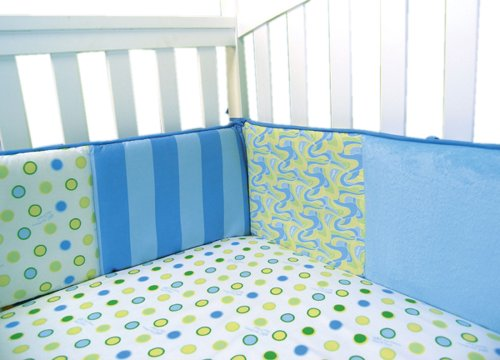 Trend Lab Infant Nursery Newborn Baby Bedding Comforter Dr. Seuss Blue Oh The Places You'Ll Go Crib Bumper front-380711