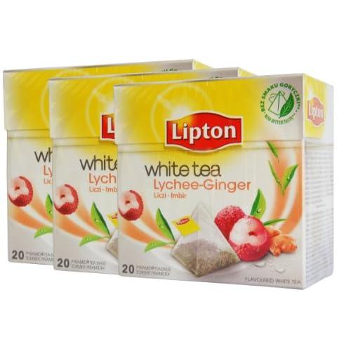 Amazon.com : Lipton White Tea Lychee-Ginger 3 x 20 Pyramidenbeutel