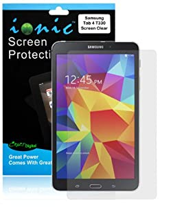 Ionic 2014 Samsung Galaxy Tab 4 8.0 8-Inch Screen Protector Film Clear (Invisible) (3-pack)[Lifetime Replacement Warranty]