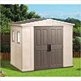 Apex 8' x 6' Shed in Brown & Beige