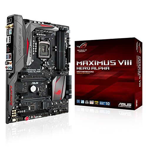 ASUS ROG MAXIMUS VIII HERO ALPHA ATX DDR4 3000 LGA 1151 Motherboards