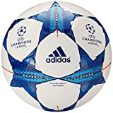 adidas Performance Finale 15 Capitano Soccer Ball, White/Bright Cyan/Bright Blue, 5