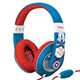 eKids Marvel Avengers Captain America Over Ear Headphones with Volume Control