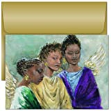 Three Heavenly Angels - Religious Christmas Cards