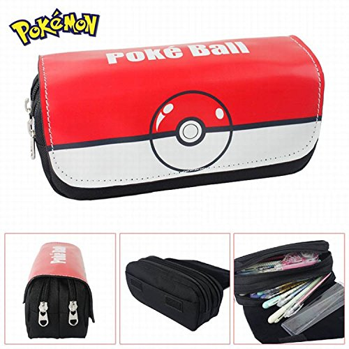 Estuches-Material-escolar-Portatodo-doble-Pokemon-Pokeball