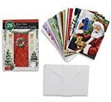 25 Count Great Value Christmas Cards Assorted