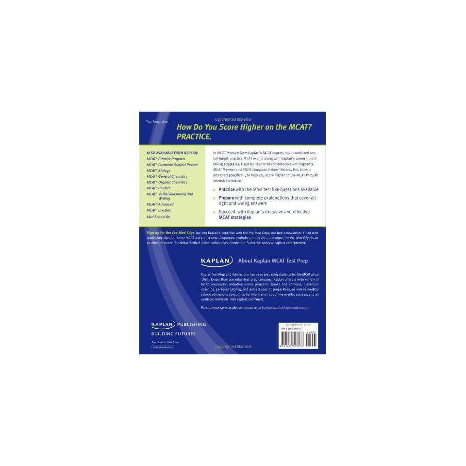 Kaplan MCAT Practice Tests on PopScreen