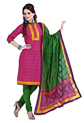 HIFI Ethnicwear Women's Dress Material(HIFI 3219_Pink_Free_Size)