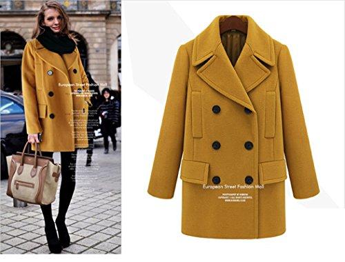 STYLISH BOY  コート あったか マスタード色 フランス アウター レディース 女性 デート セレブ キュート オリジナル ブレスレット SB001197