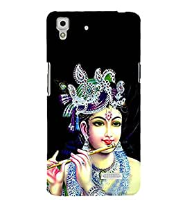 Lord Krishna Cute Fashion 3D Hard Polycarbonate Designer Back Case Cover for Oppo R7 :: Oppo R7 Lite