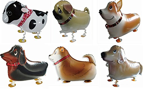 Actopus-6pcs-Pet-Dog-Balloons-Walking-Animal-Balloon-Air-Walkers-Kids-Birthday-Party-Decor-6-Different-kinds-of-Dogs