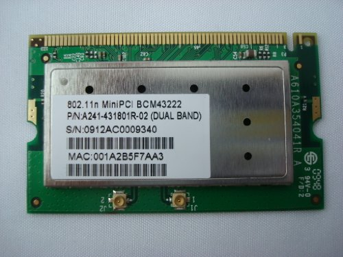 New Broadcom Bcm43222 4322 Mini Pci 802.11A/B/G/N Wireless N Wifi Card 300M