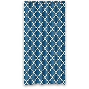 Amazon Com Morocan Cornflower Blue Sky Shower Curtain 36