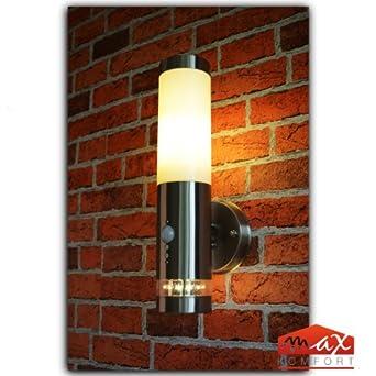 Edelstahl Außenlampe Fackel Hoflampe Lampe mit Bewegungsmelder Wandleuchte IP44