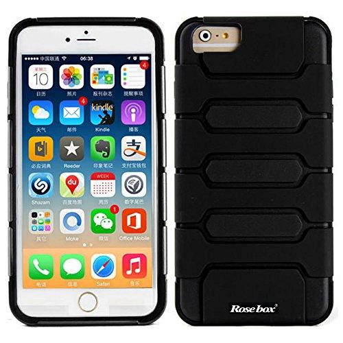RoseBox® iPhone 6 Plus Case Apple iPhone 6 Plus (5.5) Case Hybrid Slim Case 5.5 inch Cover Bumper Case Fit Dual Protection Cover for iPhone 6 Plus(5.5)(2014) (Black &Black)