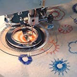 JOYOOO Multi-functional Sewing Machine Daisy Flower Stitch embroidery foot for Brother /Singer /Babylock /Janome /Kenmore
