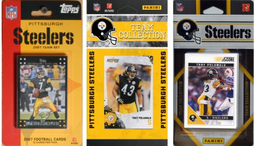 NFL Pittsburgh Steelers 3 Different Licensed Trading Card Team Sets