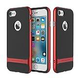 iPhone7 Plus ケース ハイブリッド 耐衝撃 iPhone7Plus カバー 薄型 ストラップホール付 指紋防止 正規品 アイフォン7 プラス スマホケース (レッド)