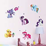 My Little Pony 3d Cartoon Wall Stickers For Kids Rooms Home Decoration Diy Wall Decal For Girls Room Wall Decoration