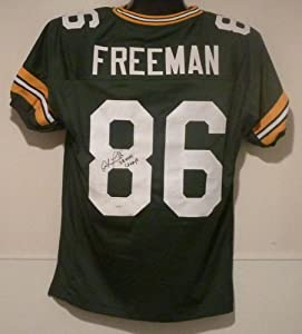 Antonio Freeman Autographed Green Bay Packers green size XL Jersey w/