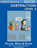 Learning Essentials Subtraction Level 3 (Math and Reading Workbook Series)