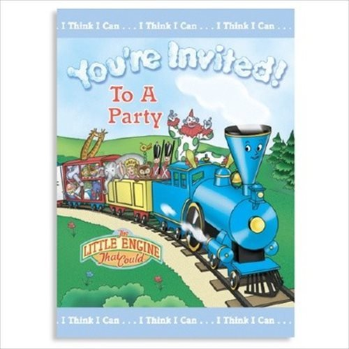 Little Engine That Could Invitations w/ Envelopes (8ct) - 1