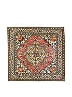 L'EDEN DEL TAPPETO Alfombra Ardebil Tocco Seta Rojo/Multicolor 246 x 255 cm