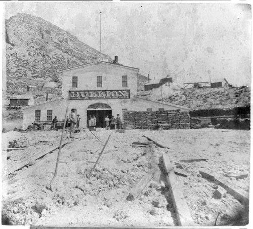 Photo Reprint Bullion mine, Gold Hill, Nevada 1866