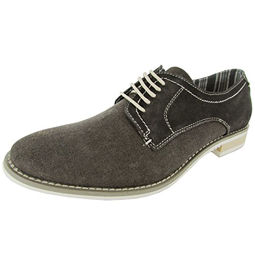 Steve Madden Mens P-Treme Lace Up Oxford Shoe, Grey Fabric,