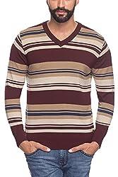 Raymond Men's Woolen Sweater (8907253191023_RMWX00486-M8_42_Dark Maroon)