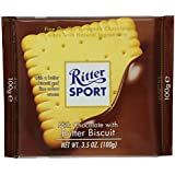 Ritter Sport Milk Chocolate with Butter Biscuit Bar, 3.5 Ounce